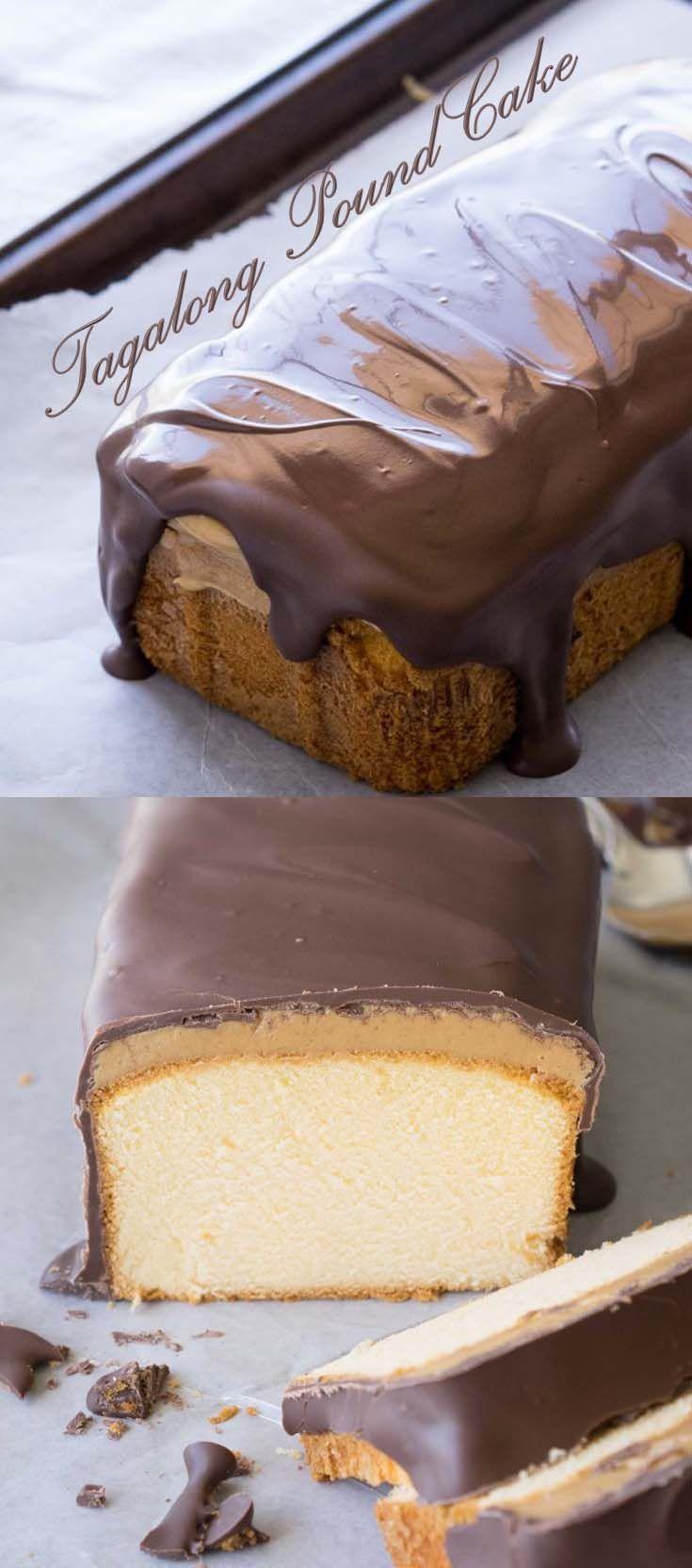 Tagalong Pound Cake