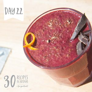 Beet + Cacao Smoothies. Day 22/30/ The Wellness Collective #glutenfree #dairyfree