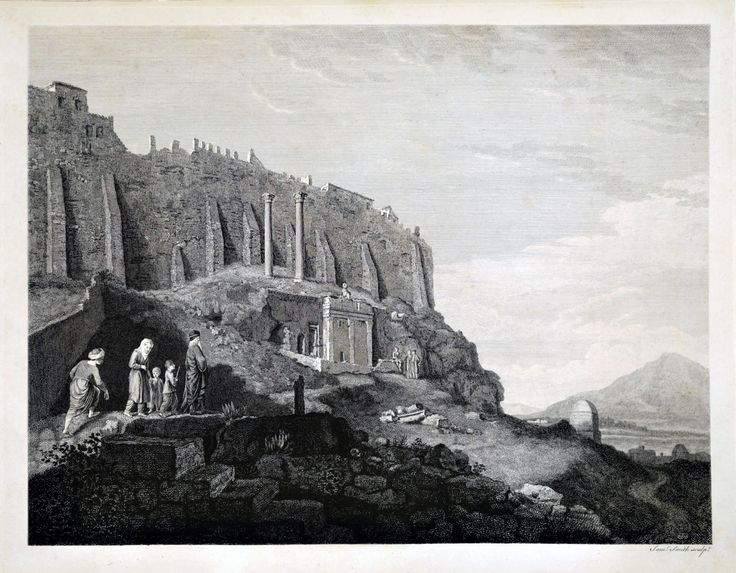 James Stuart (1713-1788)-Το μνημείο του Θρασύλλου. Οικογένεια ορθόδοξων πιστών κατευθύνεται προς την Παναγιά Σπηλιώτισσα.