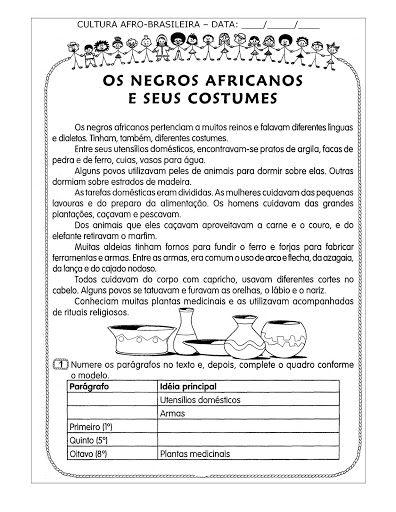 ESPAÇO EDUCAR: Algumas atividades para o Dia da Consciência Negra