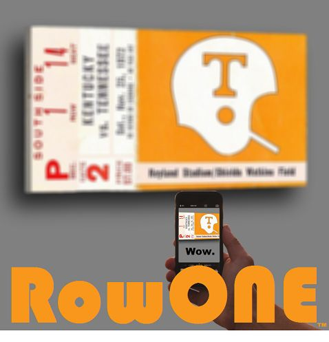 1972 Tennessee Vols football ticket canvas art by Row One Brand. #Tennessee #Vols #collegefootball #art #RowOneBrand