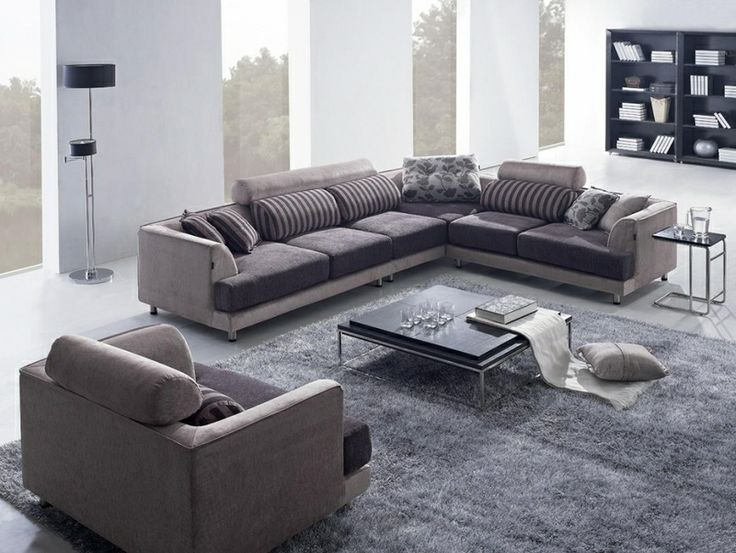 Tosh Furniture Modern Beige Fabric Sectional Sofa With Chair. Find This Pin  And More On Living Room Sets ... Part 95