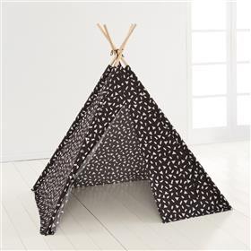 Printed Tee Pee Play Tent - Black & White
