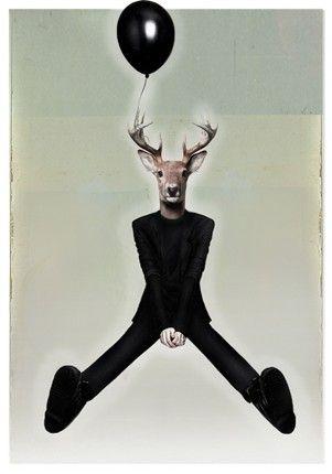 Lech Bator.com - artysta grafik - czarny balon