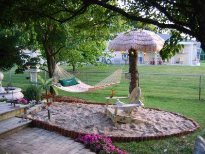 make your own Backyard Beach