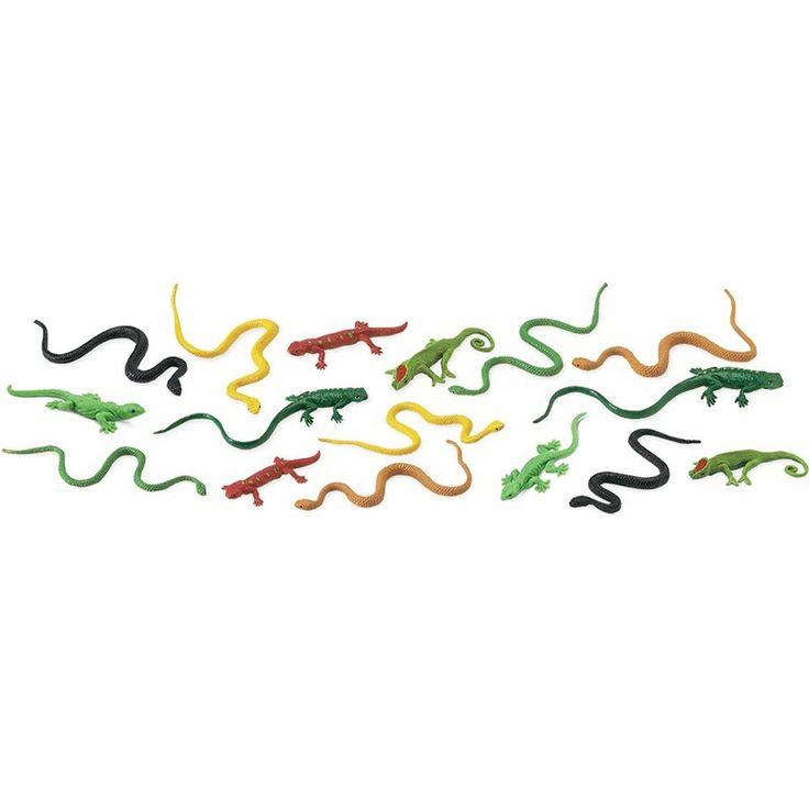 Tubo 16 piezas reptiles - Safari