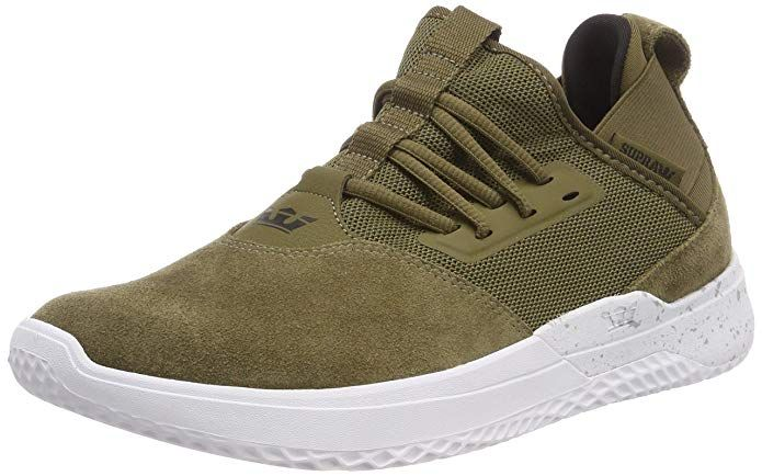 new style 2f9f6 b8d8b Supra Titanium, Sneakers Basses Homme, Vert (Olive-White 323), 47.5