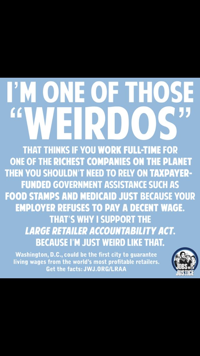 .Stop shopping at stupid WalMart...or at least realize that we pay their employee's insurance FOR THEM!!!  Just Wrong.....CFC....VOTE OUT the GOP AND RAISE the MINIMUM WAGE AND INDEX it to INFLATION!