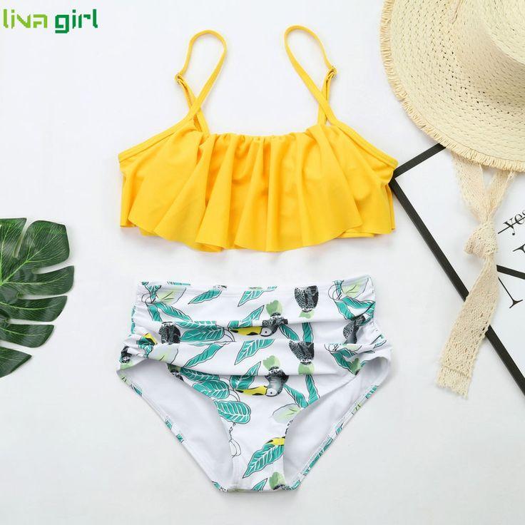 Liva girl Sexy Yellow Print Bikini Swimwear Two Piece swimming Swimsuit 2019 Brazilian Swimsuit Fashion Top Beach wear Suits