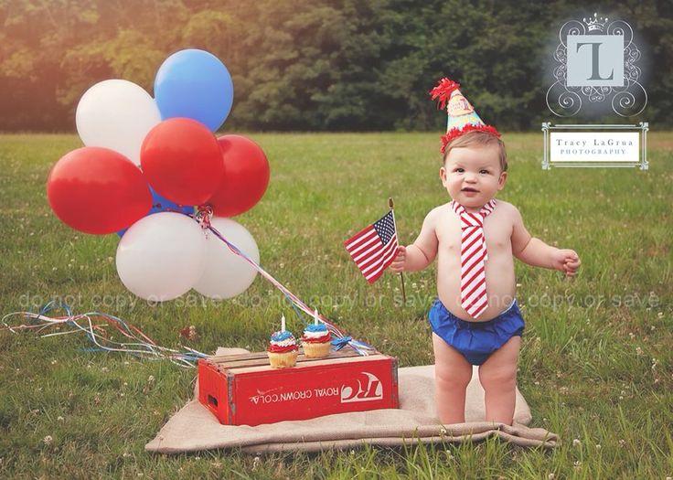 First birthday  Fourth of July  Cake smash  Nj photographer
