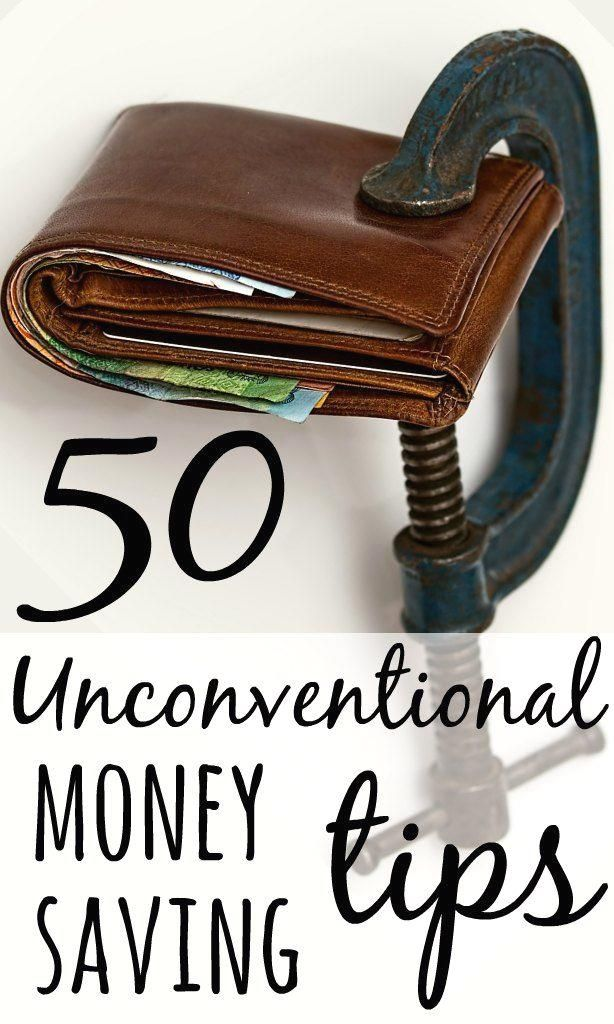 Tight, cheap, frugal or thrifty - whatever you call it, how far would you go to save money? Check out the 50 most unconventional money saving tips - EVER.  https://www.pinterest.com/pin/558868634988742868/