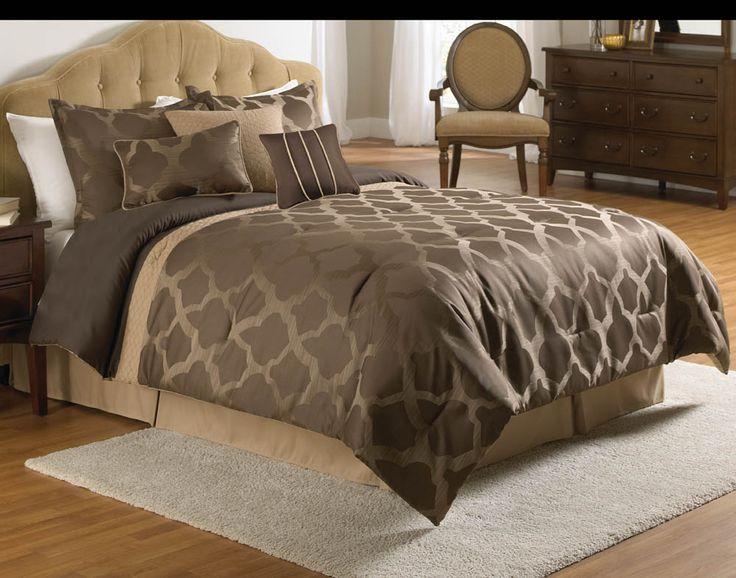 Potrero brown bedding set queen by sensationaldecorandmore