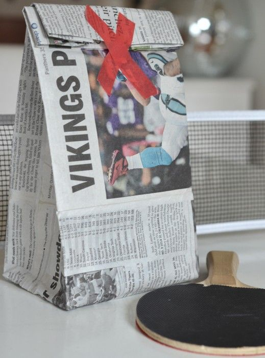 make a newspaper bag. if you want to.