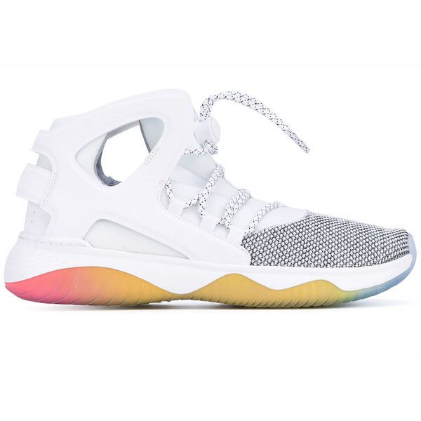Nike 'Huarache Ultra' Sneakers ($118) ❤ liked on Polyvore featuring men's fashion, men's shoes, men's sneakers, nike mens sneakers, nike mens shoes and mens rainbow shoes