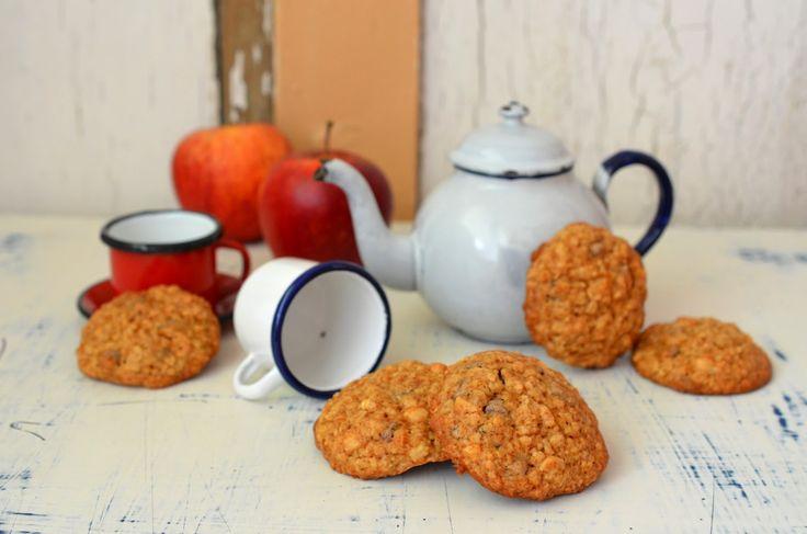 Ninas kleiner Food-Blog: Apfel-Mandelkekse mit Schokolade