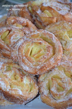 Beignets escargots aux pommes | Le Sucré Salé d'Oum Souhaib