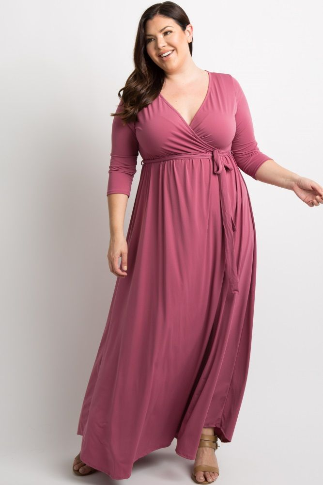 a7e538cb01325 Royal Blue Draped 3/4 Sleeve Plus Maxi Dress in 2019 | Full figured ...