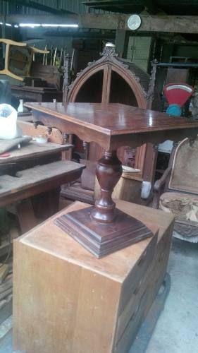 mesa de canto antiga madeira imbuia promoção
