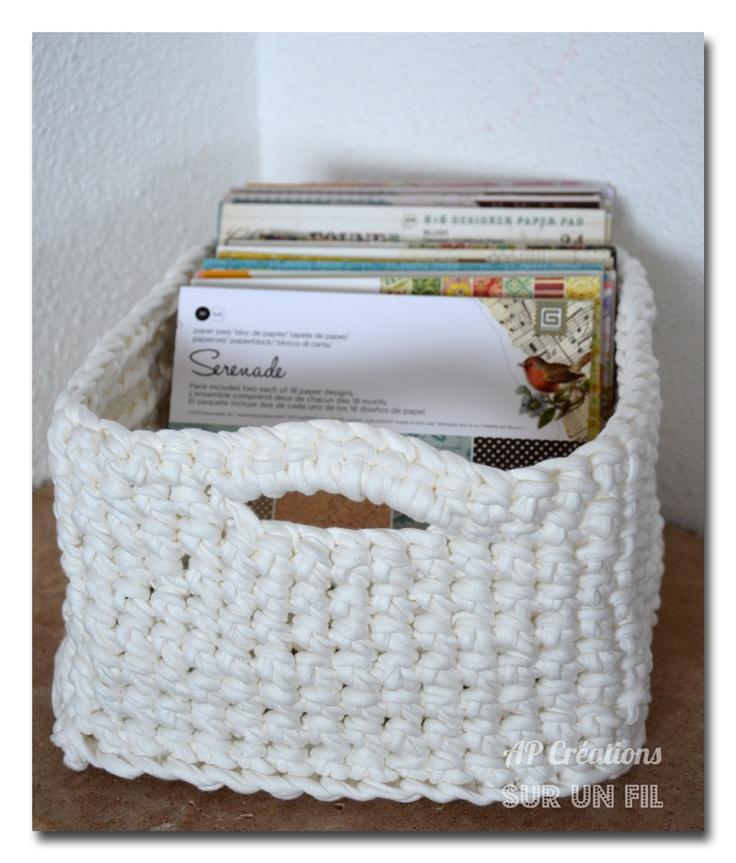 Managed To Make A Square Basket Knitting Amp Crochet