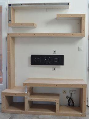 Photo fabriquer meuble tv 07 diy i - Meuble tv cloison ...