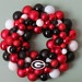 GEORGIA BULLDOGS Ornament Wreath. $59.00, via Etsy.