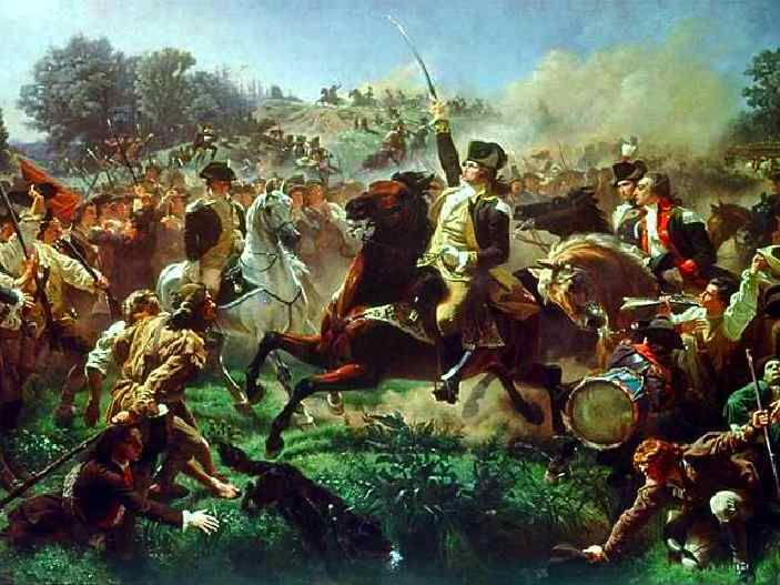 6/28/1778 - Battle of Monmouth, New Jersey: The longest battle of the American Revolution. The British and the Continental armies clashed in the heat from morning until after 5 o' clock PM from exhaustion. Washington planned to resume the battle on the next day, but General Clinton and his men slipped away, undetected by Washington's army, shortly after midnight. Neither side emerged a clear winner of the battle, but the American forces had proved themselves as a professional fighting force.