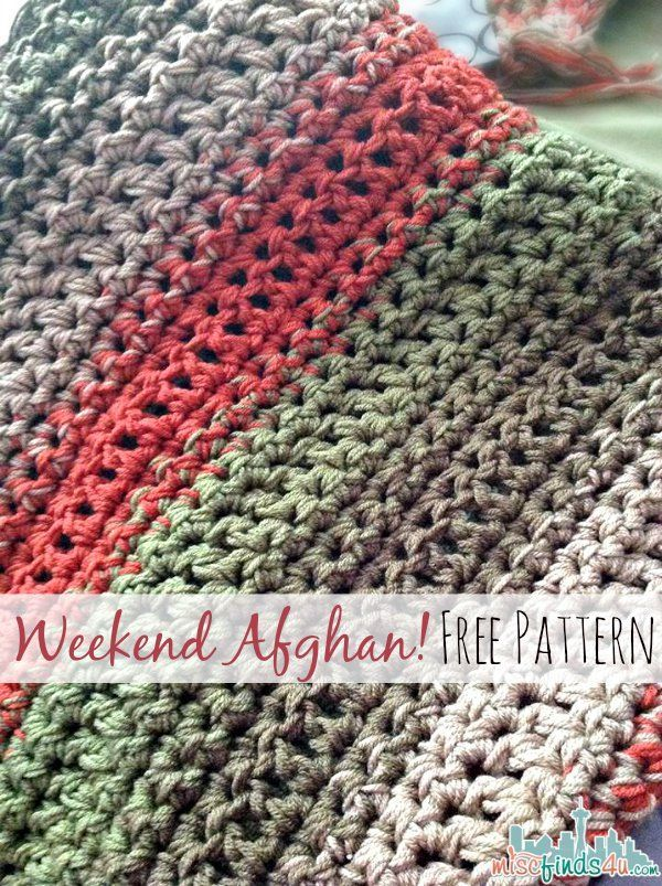 Free Pattern: Fast and Easy Crochet Throw (2 Stripe Options)   Pinterest