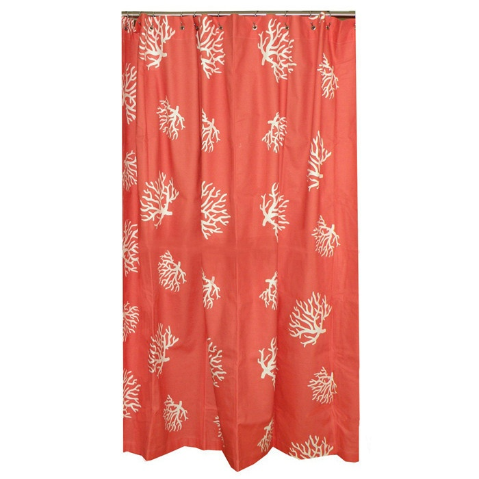 1000 Ideas About Coral Shower Curtains On Pinterest Shower Curtains Curta