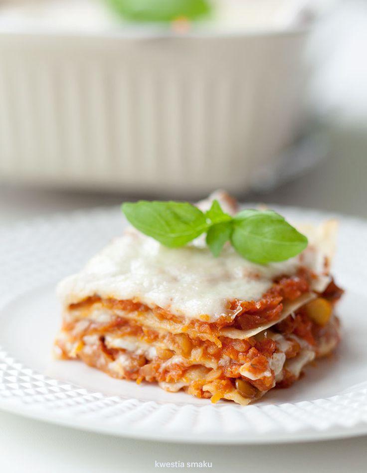 Wegetariańska lasagne bolognese
