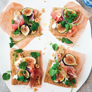 Rustic Fig, Serrano Ham & Hazelnut Tartines