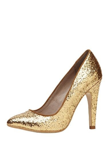 pretty fun - not very practical but amazing and great price - wear as the statement - with jeans dresses etc Pointed glitter sparkle high heeled court. Synthetic upper/synthetic sole/leather lined.