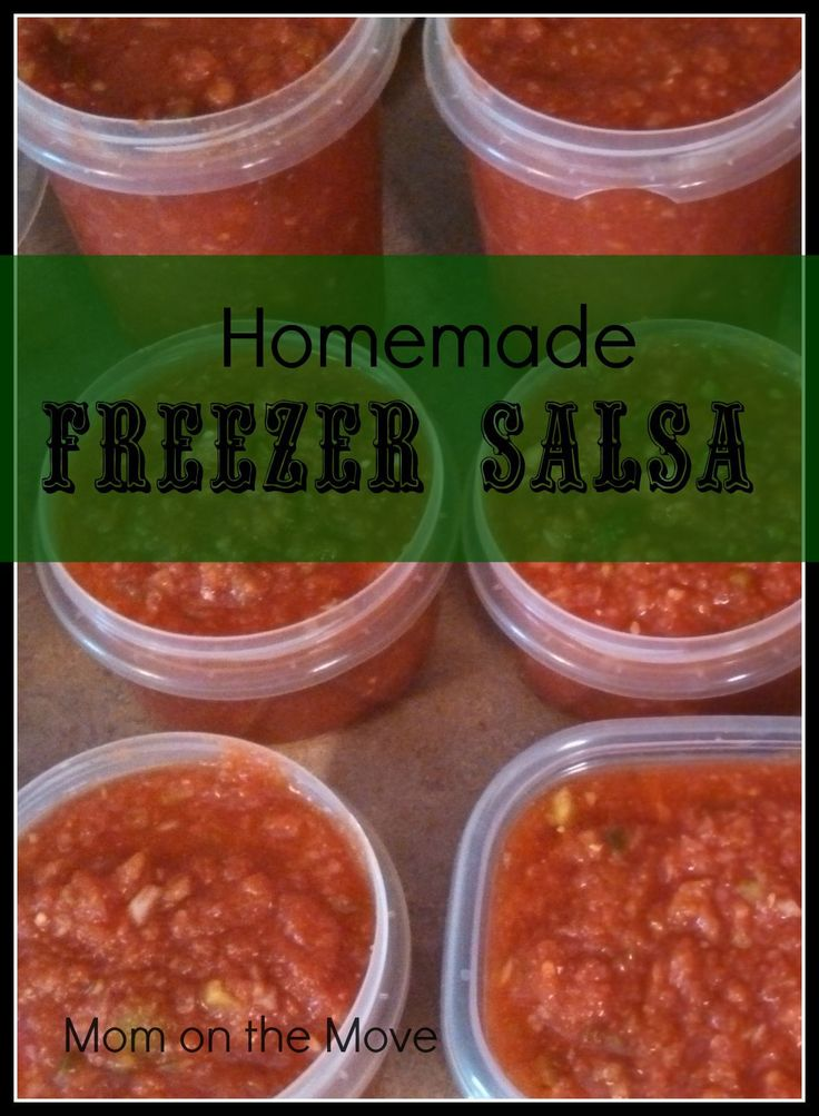 Homemade Freezer Salsa Add .5 tsp more of sugar Makes 8 little canning jars After taste is spicy Good recipe