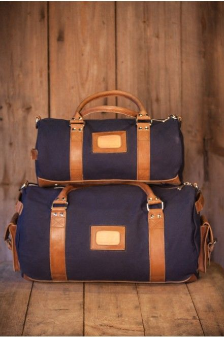 Canvas Duffle Bag for Men, Rugged, Leather Trim, Canvas by Buffalo Jackson Trading Co
