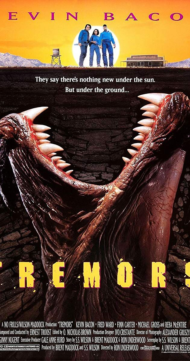 Tremors 1990 Imdb Film Posters Vintage Fred Ward Kevin Bacon