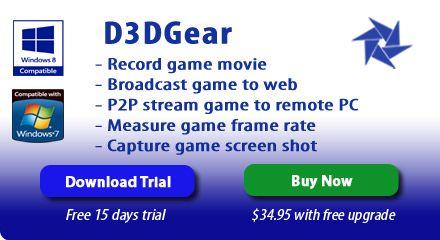 Video Game Recording Software D3DGear