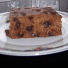 Poor Man's Cake- from the depression & war.  No eggs, milk or butter.  Boil together for 5 min: 2 cups raisins & 2 cups water.  Then add: 1 cup cold water, 1/2 cup shortening, 2 cups sugar, 1 t. salt, 1 t. nutmeg, 1 t. ground cloves, 1 t. ginger, 2 t. cinnamon.  Now add 2 t. baking soda, 2 t. baking powder & 3 cups flour.  Bake @ 350 for 1 hr in greased 13x9 pan.  I usually frost it, but just powdered sugar on top also works.