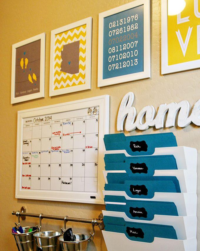 Como criar sua estação de organização familiar + Brinde para o leitor - Divirta-se Organizando