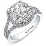 Women's Bony Levy 'Bridal' Diamond Split Shank Semi Mount Ring