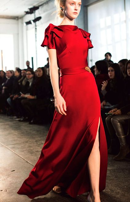 Jenny Packham's lady in red, Fall 2014