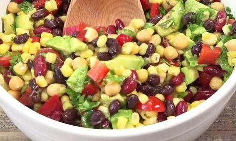 Cette salade de haricot et avocat est de loin la plus POPULAIRE en ce moment sur le web!