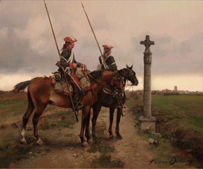 Cruz en el camino. Una pareja de lanceros carlistas en Navarra en 1837.Crónicas24 - Todas las batallas de Augusto Ferrer-Dalmau