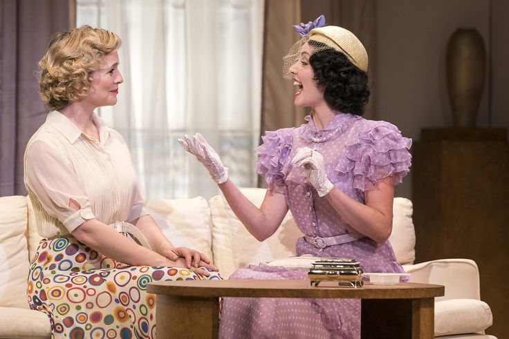 Tara Egan Langley as Constance Middleton and Caoimhe O'Malley as Marie-Louise Durham in The Constant Wife by W. Somerset Maugham at the Gate Theatre. Photo by Pat Redmond.