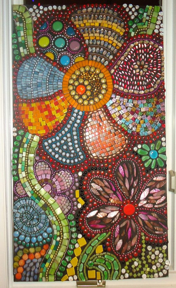 Mosaic Art  Flowers in Motion by BrokenBeautyMosaics on Etsy, $2500.00
