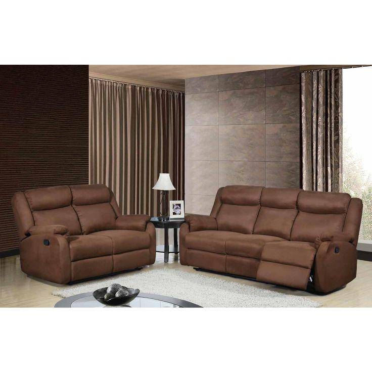 Furniture Stores Usa: Chocolate Dual-reclining Microfiber Loveseat