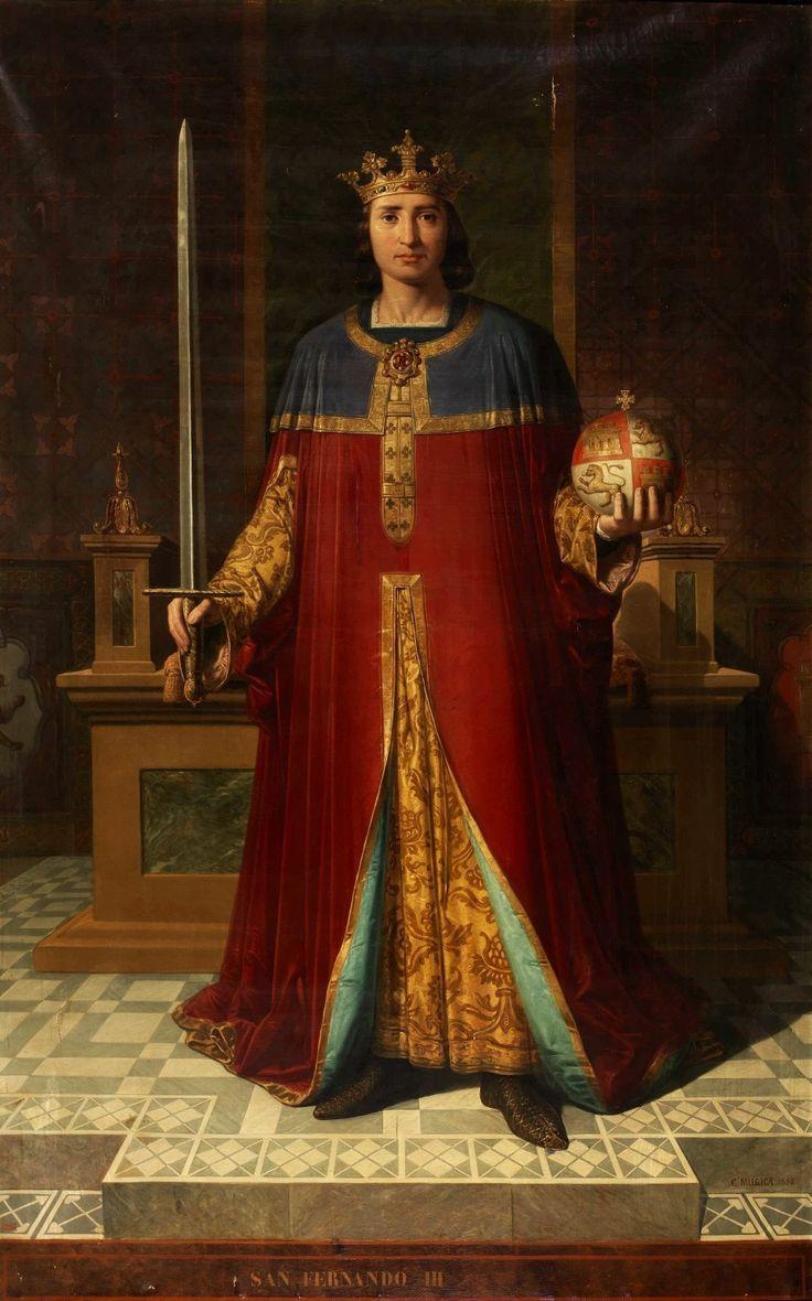 Fernando III El Santo . Rey de Castilla y León de 1199 a 1252 .