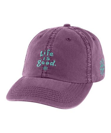 Take a look at this Plum 'Life Is Good' Essential Chill Baseball Hat - Women by Life is good® on #zulily today!