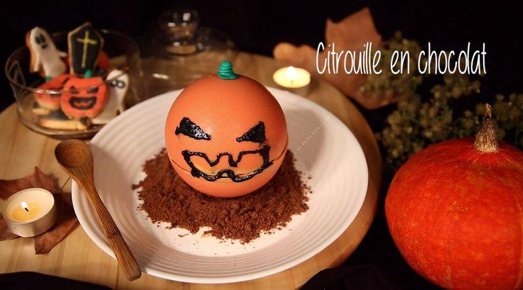 Pour Halloween, épatez vos convives avec une citrouille en chocolat aussi terrifiante que succulente !