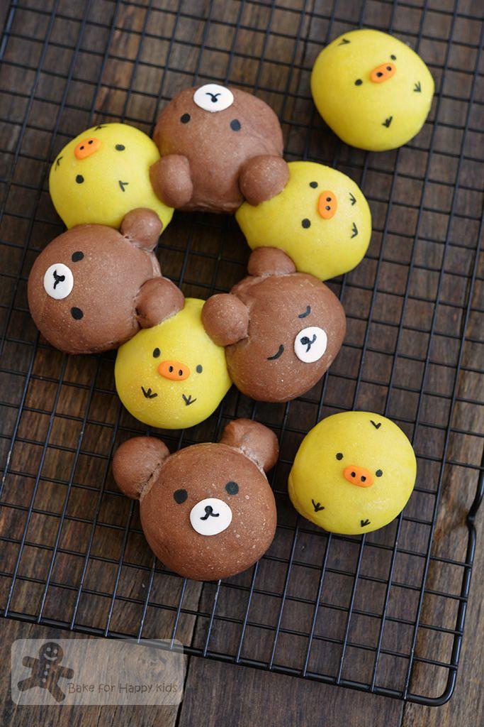 Rilakkuma and Kiiroitori Sweet Pull-apart Bread Buns.