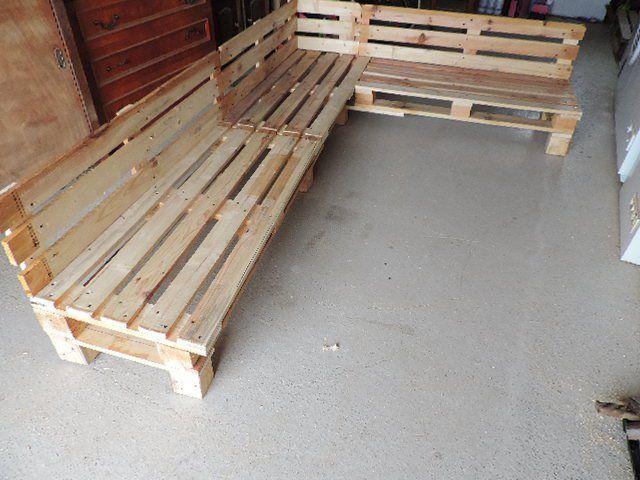 Canape Palette Sans Dossier Canape Palettes Palette Jardin Canape Jardin Meuble Jardin Palette