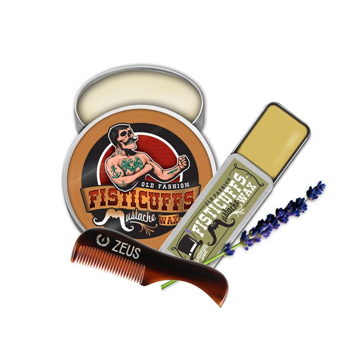 Grave Before Shave Fisticuffs Stronghold + Lavender Mustache Wax Pack